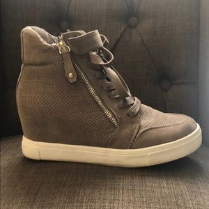 Steve Madden suede wedge sneakers